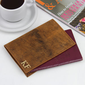 Personalised Leather Passport Holder - passport & travel card holders