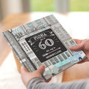 Personalised 60th Birthday Book 'Memory Lane'