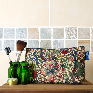 Toiletries Bag In William Morris Golden Lily