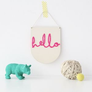 Laser Cut Mini Wooden Banner Embroidery Kit - craft lover