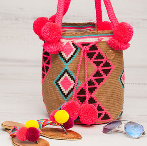 Rosa Pompom Bag - shoulder bags