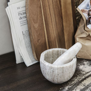 Marble Pestle And Mortar - pestles & mortars