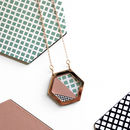 Geometric Hexagon Rose Gold Necklace