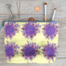 Lemon Flowers Makeup Bag