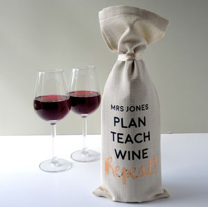 Teacher Thank You Alcohol Bottle Bag - gifts for teachers