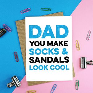 Socks And Sandals Father's Day Card - father's day cards