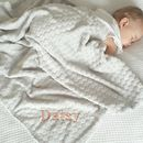 Personalised Fleece Unisex Grey Baby Blanket