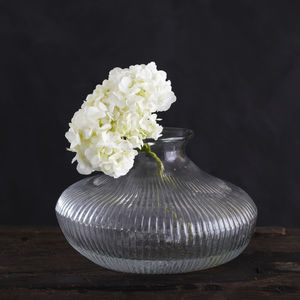 Ribbed Glass Vase - home accessories