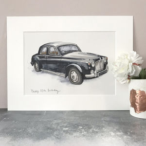 Personalised Hand Drawn Car Illustration - paintings