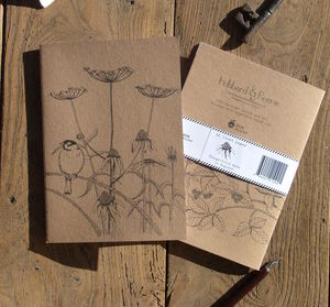 Sparrow 100% Recycled Notebook - writing
