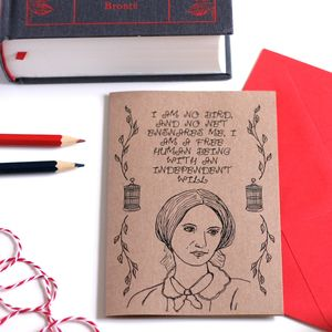 Charlotte Bronte Greetings Card