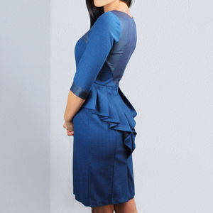 Palermo Dress Blue - women's fashion