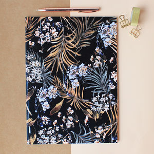 A4 Oriental Palms Notebook