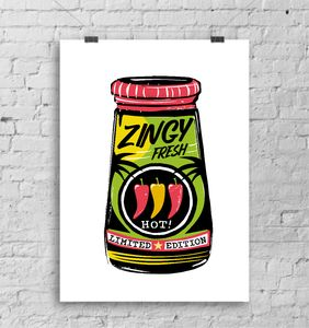 Zingy Fresh Limited Edition A3 Art Print - limited edition art