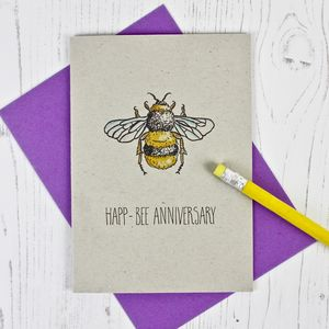 Bee Themed Anniversary Card - wedding, engagement & anniversary cards