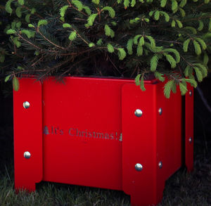 'It's Christmas' Festive Metal Planter - tree skirts & stands