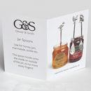 Personalised Hand Stamped Oak Leaf Jam Jar Spoon