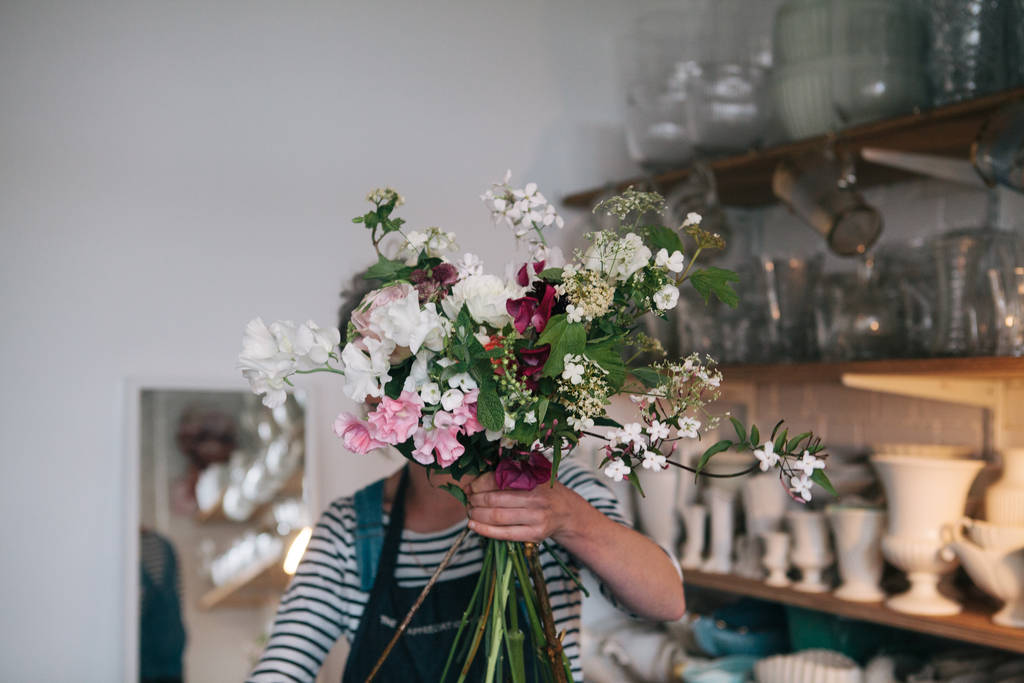Hand Tied Wild Flower Bouquet Experience For Two