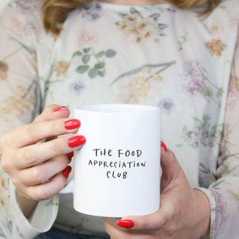 Food Appreciation Club Monochrome Ceramic Mug