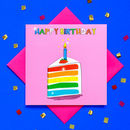Glitter Rainbow Cake Birthday Card