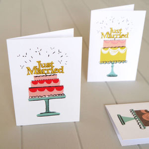 Just Married Wedding Cake Card
