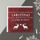 'All Kinds Of Pretty' Stag Christmas Card