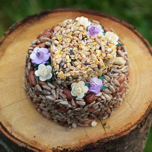 Garden Bird Food Cake Garden Gift For Mum