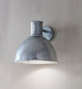 St Ives Bay Galvanised Wall Light - lighting