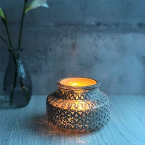 Mink Geometric Tea Light Holder