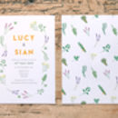 Herb Garden Wedding Day Invitations