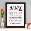 Personalised 90th Birthday Typographic Art Print