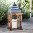 Estate Wooden Battery Lantern
