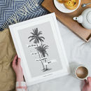 Personalised Vintage Palm Tree Drawing