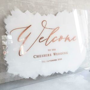 Acrylic Sign And Table Plan With Hand Painted Detail