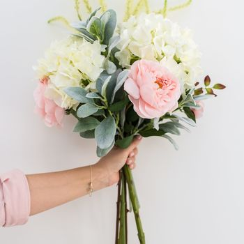 Faux Blush Pink Whimsical Arrangement