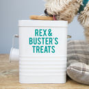 Personalised Dog Treat Storage Tin