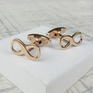 Classic Infinity Cufflinks In Rose Gold - cufflinks