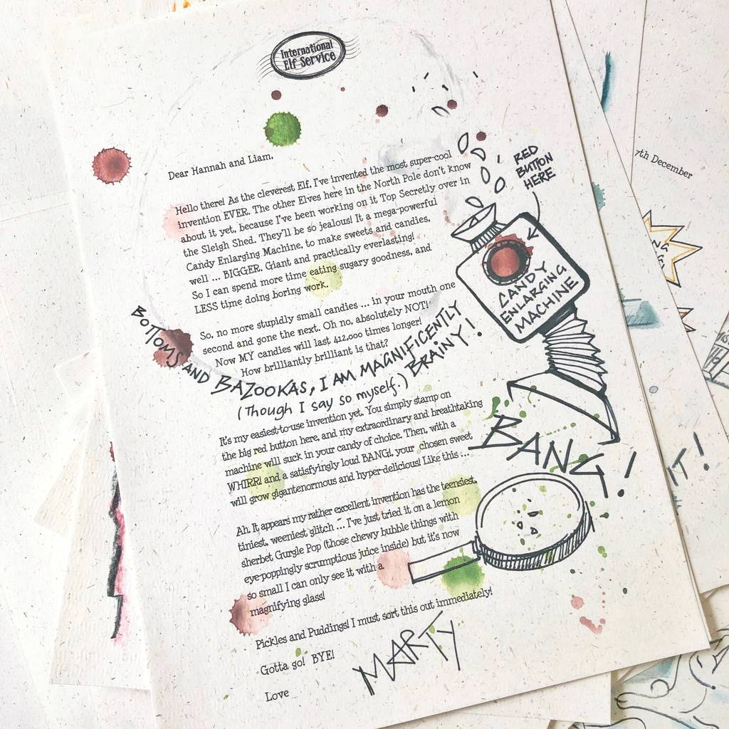 Christmas Letters.Personalised Elfie S Christmas Letter Bundle 2019