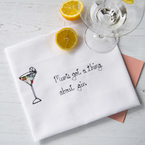 Personalised 'Got A Thing About Gin' Tea Towel - gifts for the home