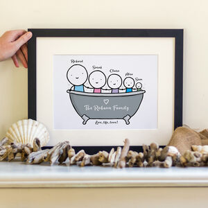 Personalised Family Bath Print