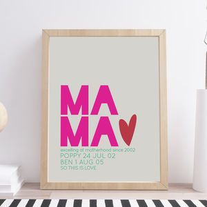 Personalised Modern New Mum Print - 1st mother's day