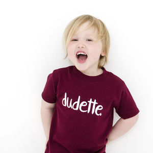 'Dudette' Short Sleeve T Shirt - t-shirts & tops
