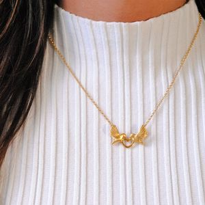 Gold Love Dove Necklace - necklaces & pendants
