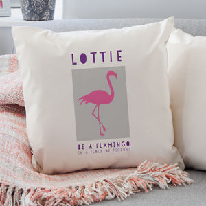 Personalised Flamingo Cushion - cushions