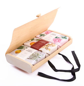 Wood Box Organic Soap Set - soap gift sets