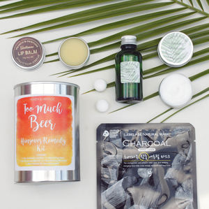 'Too Much Beer' Hangover Kit With Mens Beauty Products - bath & body