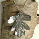 Hawthorn Leaf Necklace, Leaf Jewellery