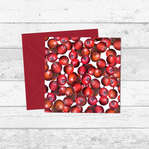Red Berry Pattern Christmas And Greetings Card - cards