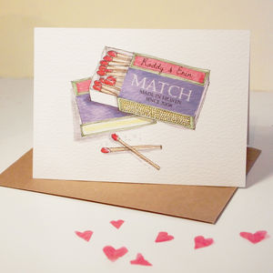 Personalised 'Perfect Match' Card - funny cards
