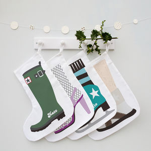 Which Shoe Are You? Set Of Family Christmas Stockings
